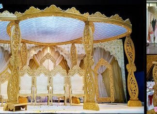 Latest Wedding Wooden Paisley Mandap Germany