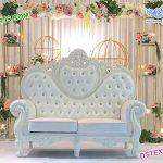 Luxurious Wedding White Throne Sofa USA