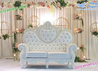 Luxurious Wedding White Throne Sofa USA