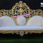 Maharaja Wedding Golden Carved Sofa London