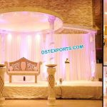 Modern Wedding Fiber Crystal Mandap Fiji