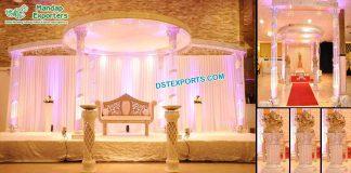 Modern Wedding Fiber Crystal Mandap Fiji