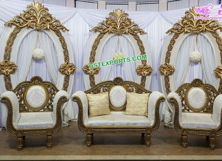 Prominent Wedding Stage New Oval Frame Panels