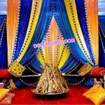 Punjabi Sangeet Stage Colorful Backdrop Curtains