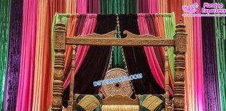 Punjabi Wedding Sangeet Stage Swing Jhula