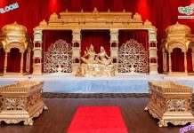 South Asian Wedding Shiv Parvati Stage