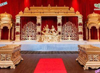 South Asian Wedding Shiv Parvati Stage