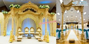 South Indian Wedding Hand Carved Wooden Mandap