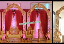 South Indian Wedding Wooden Back Frames