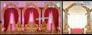 South Indian Wedding Wooden Back Frames