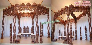 Special Wedding Wooden Carved Spiral Mandap