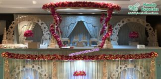 Stylish Wedding Wooden Carved Mandap Malaysia