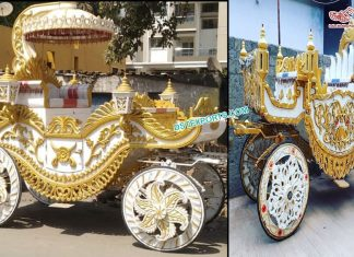 Traditional Bahubali Wedding Buggy Carriage