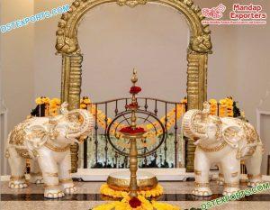 Traditional Wedding Entrance Elephant Statues