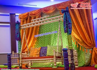 Arabian Heena Function Backdrop Curtains