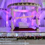 Designer Fiber Crystal Wedding Mandap
