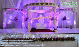 Designer Fiber Crystal Wedding Mandap