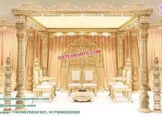 Designer Wooden Handicraft Wedding Mandap NZ