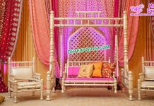 Designer Wooden Sankheda Swing With Chairs