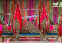 Elegant Muslim Walima Stage Set UK