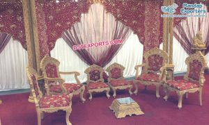 Embroidered Arch Style Mandap Backdrops