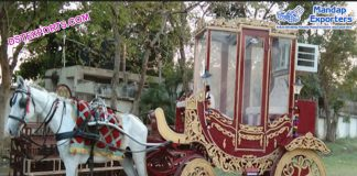 Emperor Style Air Condition Horse Drawn Carriage