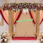 Glamorous Wedding Golden Carved Mandap
