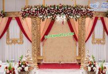 Glamorous Wedding Golden Carved Mandap