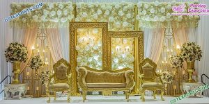 Glamorous Wedding Stage Decor With Candle Walls