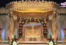 Golden Fiber Crystal Wedding Mandap Durban