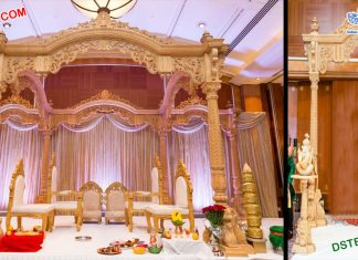 Gujarati Wedding Wooden Mandap London