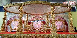 Gujarati Wedding Wooden Peacock Mandap London