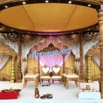 Imperial Wedding Wooden Look FRP Mandap