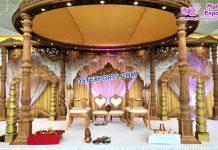 Imperial Wedding Wooden Look FRP Mandap