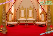 Indian Wedding Golden Mandap Chairs