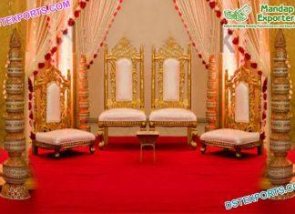 Indian Wedding Golden Mandap Chairs