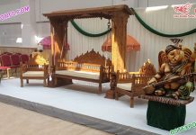 Indian Wedding Wooden Hand Carved Jhula Set