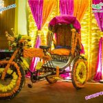 Latest Decorative Rickshaw For Bridal Entry