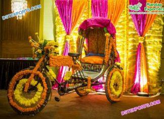 Latest Decorative Rickshaw For Bridal Entry
