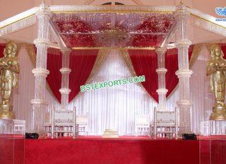 Latest Silver Crystal Wedding Mandap South Africa