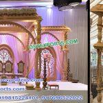 Latest Wooden Handicraft Wedding Mandap Germany