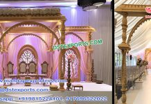 Latest Wooden Handicraft Wedding Mandap Germany