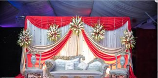Luxurious Wedding Stage Love Sofa Set Durban