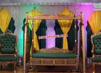 Muslim Mehndi Sangeet Stage Jhula Set