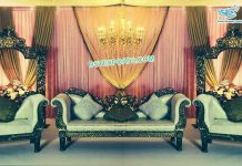 Muslim Walima Stage Black Furniture Set