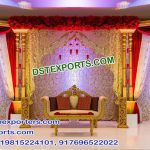 Muslim Wedding Embroidered Mehraab Backdrop Curtains