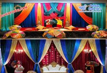 Punjabi Mehndi Sangeet Stage Decoration USA