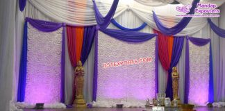 Punjabi Sangeet Stage Backdrop Curtains