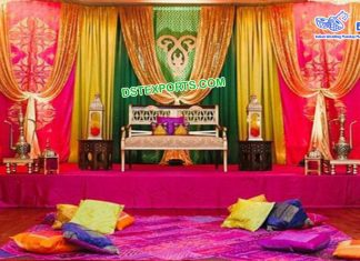 Punjabi Wedding Embroidered Backdrop Curtains