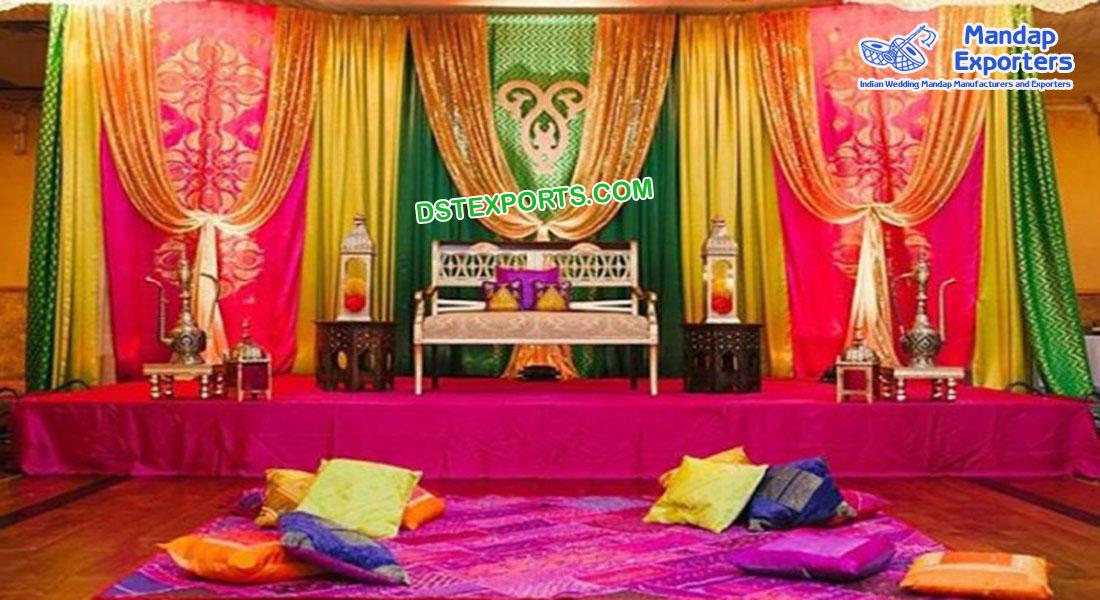 Punjabi Wedding Embroidered Backdrop Curtains